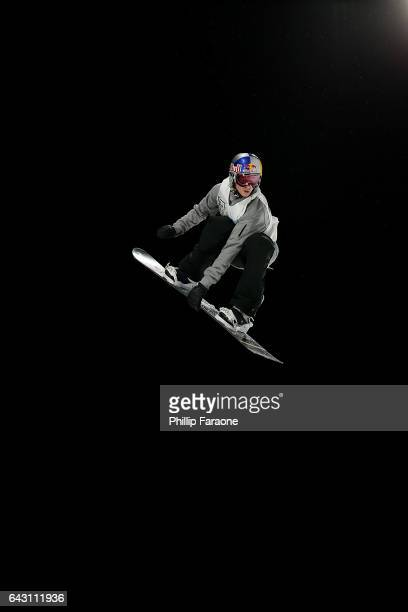 Seppe Smits of Belgium competes during the Superfinals at Air Style Los Angeles 2017 at Exposition Park on February 19 2017 in Los Angeles California