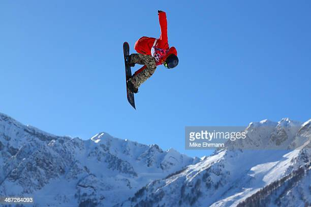 Seppe Smits of Belgium competes in the Men's Slopestyle Qualification during the Sochi 2014 Winter Olympics at Rosa Khutor Extreme Park on February 6...
