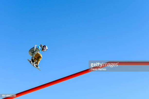 Seppe Smits of Belgium during the Men's Slopestyle Training on day three of the FIS Freestyle Ski and Snowboard World Championships 2017 on March 10...