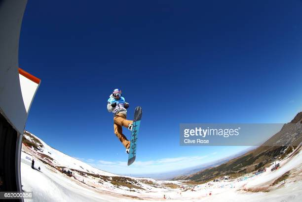 Seppe Smits of Belgium during the Women's Slopestyle Final on day four of the FIS Freestyle Ski and Snowboard World Championships 2017 on March 11...