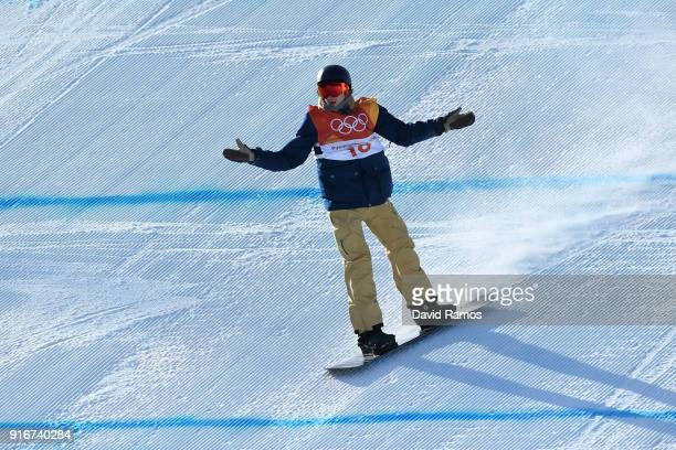 Seppe Smits of Belgium reacts during the Snowboard Men's Slopestyle Final on day two of the PyeongChang 2018 Winter Olympic Games at Phoenix Snow...