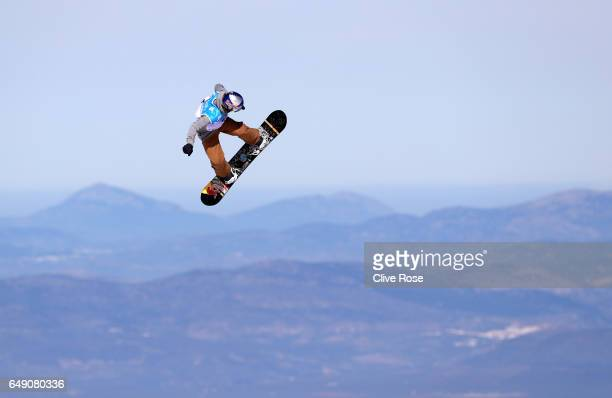 Seppe Smits of Belgium trains on Day One of the FIS Freestyle Ski Snowboard World Championships on March 7 2017 in Sierra Nevada Spain