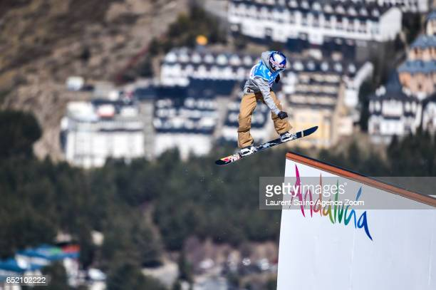 Seppe Smits of Belgium wins the gold medal during the FIS Freestyle Ski Snowboard World Championships Slopestyle on March 11 2017 in Sierra Nevada...