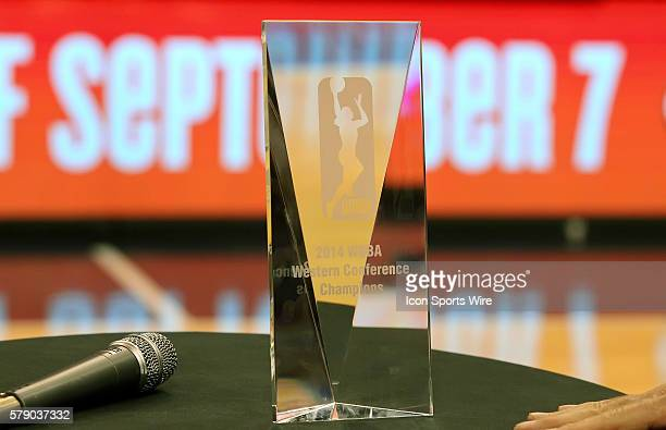 2014 WNBA Western Conference Champions trophy The Phoenix Mercury host the Minnesota Lynx in the 3rd game of the Western Conference Finals played at...
