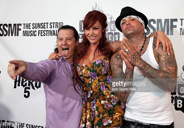 Seth Binzer Christi Shake and a guest arrive at the House of Blues Sunset Strip for a tribute to Ozzy Osbourne kicking off the 2nd annual Sunset...