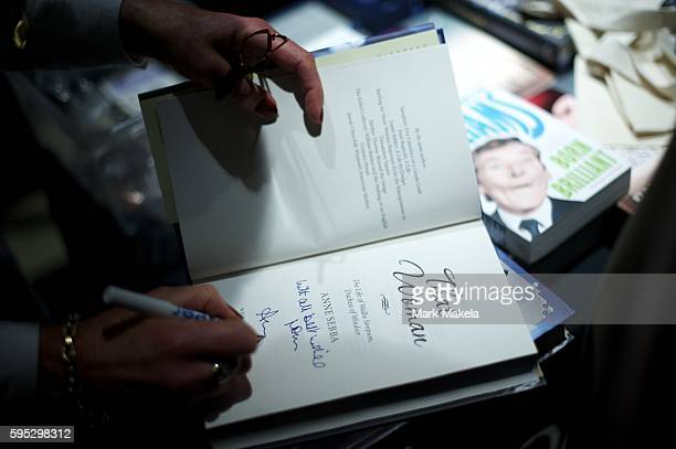 Sept 12 2011 London England UK ANNE SEBBA distinguished biographer autographs her book 'That Woman The Life of Wallis Simpson Duchess of Windsor'...