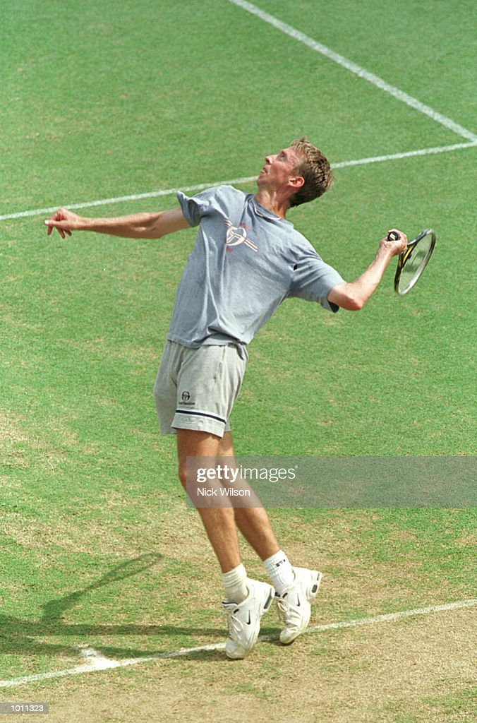 22 Sept 1999 Wayne Arthurs of Australia serves during training before the Davis Cup Semi Final against Russia starting Friday at ANZ Stadium,Brisbane,Australia. Mandatory Credit: Nick Wilson/ALLSPORT