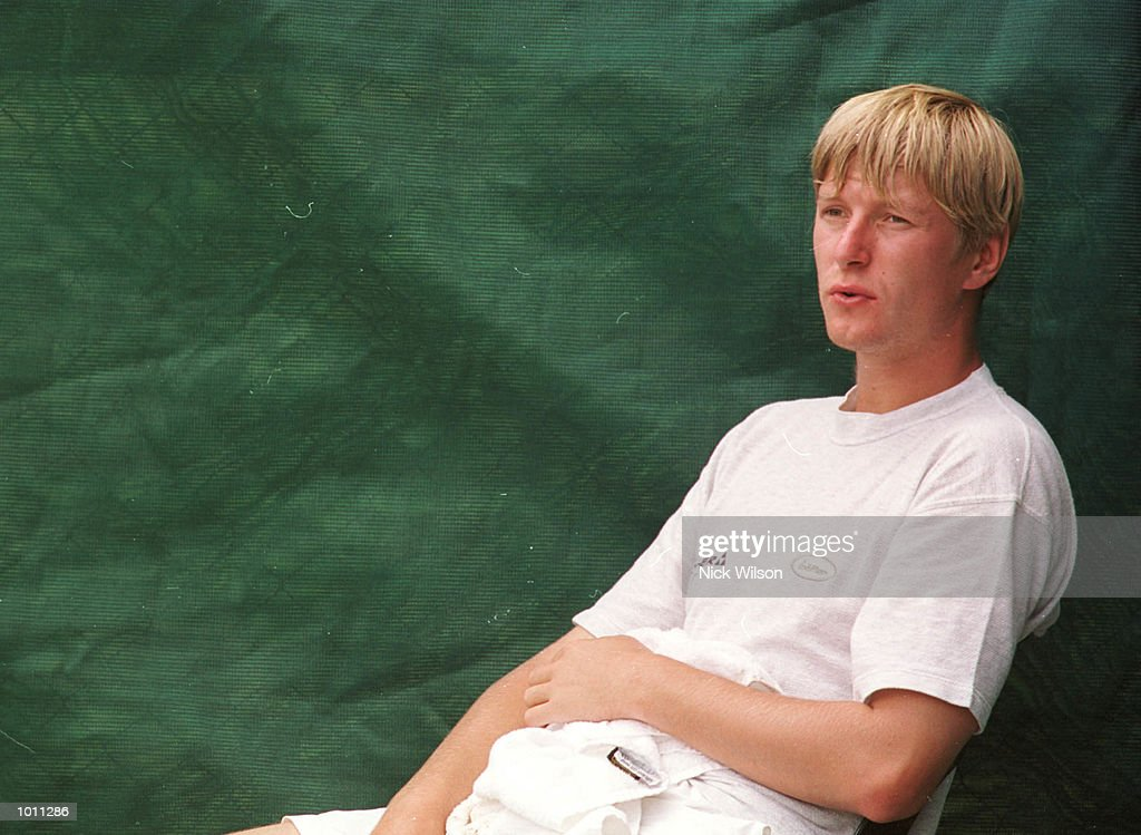 Yevgeny Kafelnikov of Russia takes a break after training.Kafelnikov was crictical of the court surface in the press confrence,but still predicted a Russian victory in the Davis Cup Semi Final against Australia starting Friday at ANZ Stadium,Brisbane,Australia. Mandatory Credit: Nick Wilson/ALLSPORT