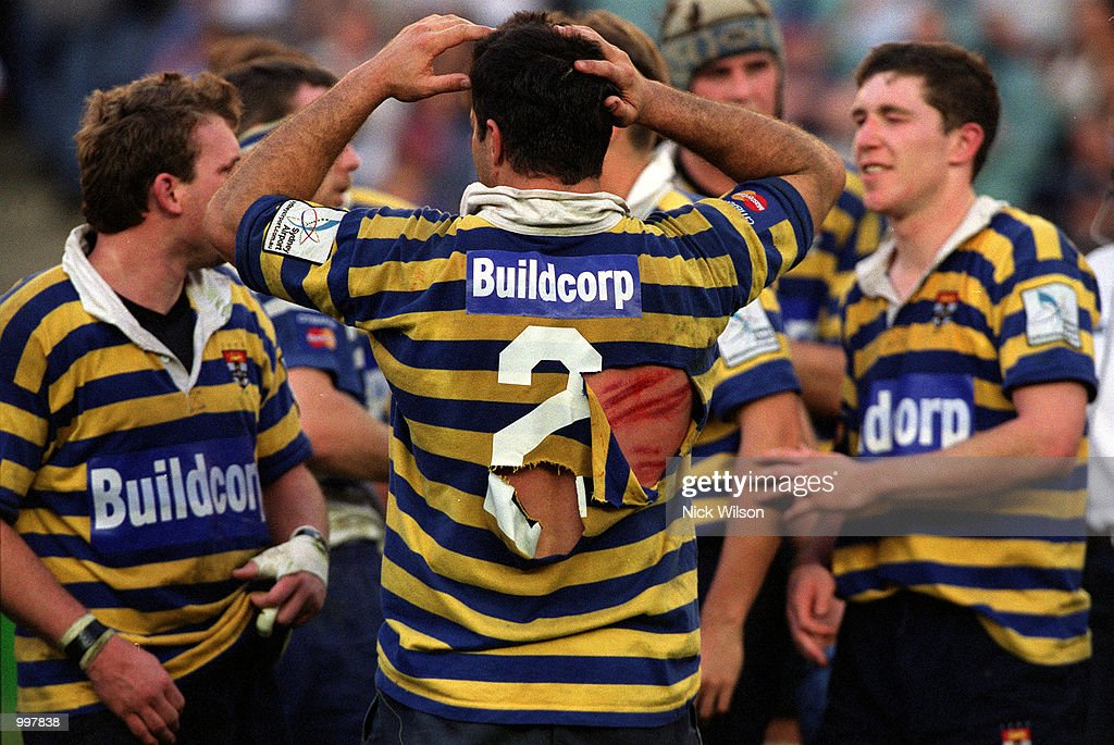 Bredan Cannon of Sydney University shows the wounds of battle after University defeated Eastwood 27-20 to win the Sydney Club Rugby Premiership at the Sydney Football Stadium,Sydney,Australia. Mandatory Credit: Nick Wilson/ALLSPORT