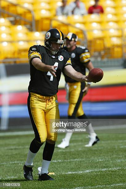 Josh Miller of the Pittsburgh Steelers prior to the Steelers 3415 victory over the Baltimore Ravens at Heinz Field in Pittsburgh PA