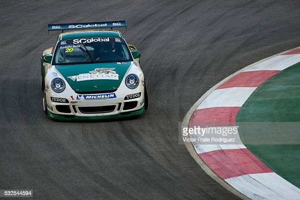 26 Sept 2009 Singapore Asia Racing Team driver Rodolfo Avila of Macau steers his car during the Porsche Carrera Cup Asia at the Singapore's the...