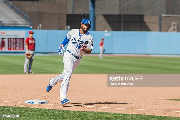 Los Angeles Dodgers Outfield Matt Kemp [3976] hits a solo blast in the 7th during the Major League Baseball game between the Los Angeles Dodgers and...