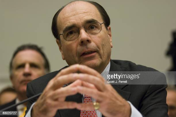 James B Lockhart III director of the Federal Housing Finance Agency during the House Financial Services hearing on the government takeover of Fannie...