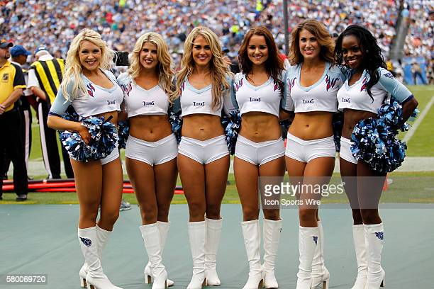 Tennessee Titans Cheerleaders during the football game between the Indianapolis Colts vs Tennessee Titans at Nissan Stadium in Nashville TN
