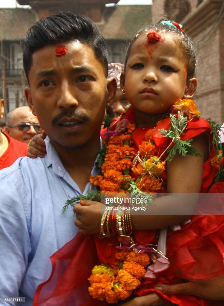 nepal s newly appointed living goddess kumari trishna shakya is
