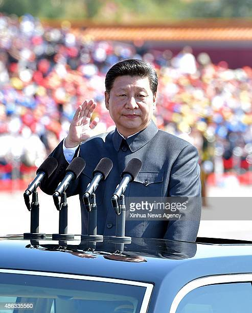 Sept. 3, 2015-- Chinese President Xi Jinping inspects troops during a parade of the commemoration activities to mark the 70th anniversary of the...