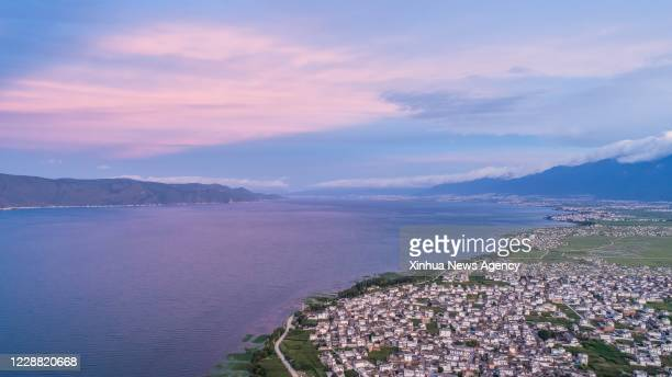 Sept. 30, 2020 -- Aerial photo taken on July 5, 2018 shows a view of the Erhai Lake in Dali, southwest China's Yunnan Province. Though Yunnan...