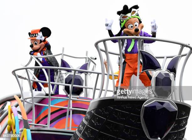 TOKYO Sept 7 2017 Performers in costumes give a show at the Disneyland in Tokyo Japan Sept 7 2017 Halloweenthemed performances started in the Tokyo...