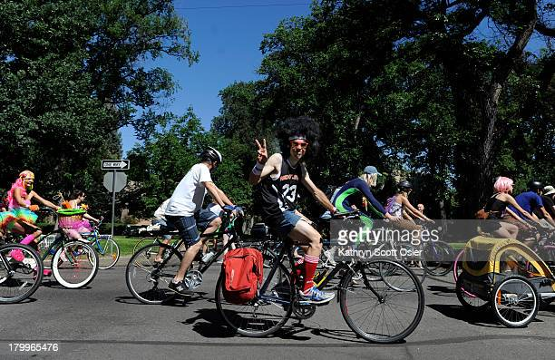 Thousands of cyclists join in the Tour de Fat costumed bicycle parade and festival around City Park and east down 17th Avenue After the parade the...