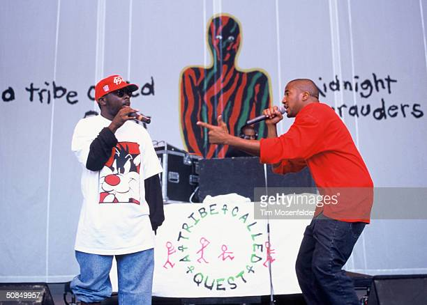 VIEW CA September 01 A Tribe Called Quest performing at Shoreline Amphitheater Event held on September 1 1996 in Mountain View California
