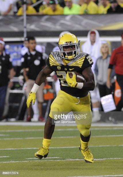September 05 2015 University of Oregon RB Tony BrooksJames during a nonconference NCAA football game between the Eastern Washington University Eagles...