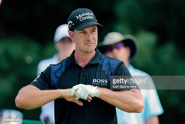 Henrik Stenson gets ready to tee off on 6 during the Final Round of the Deutsche Bank Championship at TPC Boston in Norton MA