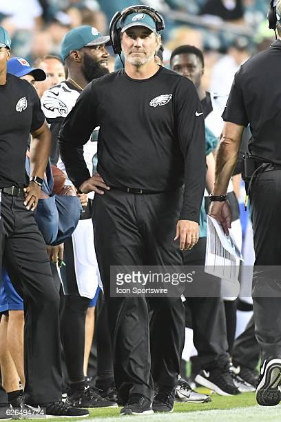 Philadelphia Eagles Defensive Backs coach Cory Undlin during a Preseason National Football League game between the New York Jets and the Philadelphia...