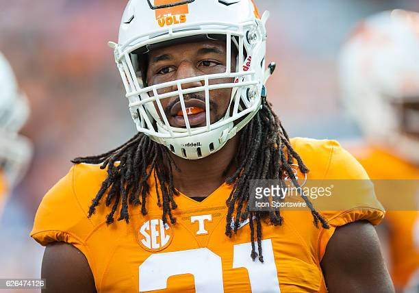 Tennessee Volunteers linebacker Jalen Reeves-Maybin during a game between the Tennessee Volunteers and Appalachian State Mountaineers at Neyland...