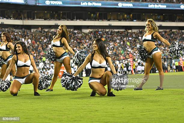 Philadelphia Eagle Cheerleader during a Preseason National Football League game between the New York Jets and the Philadelphia Eagles at Lincoln...