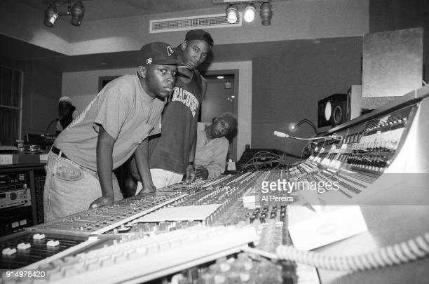 September 10 1991 Pfife QTip and Ali Shaheed Muhammad of A Tribe Called Quest in the recording studio in New York City on September 10 1991
