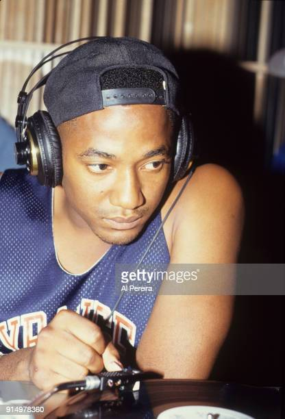 September 10 1991 QTip of A Tribe Called Quest in the recording studio in New York City on September 10 1991