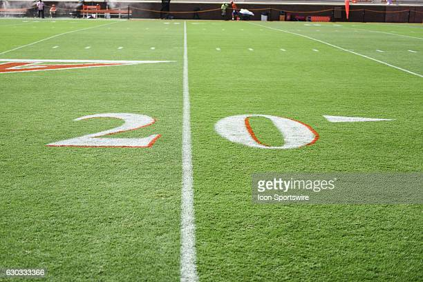 A general view of the field at Memorial Stadium during pregame between the Clemson Tigers and the Troy Trojans at Memorial Stadium in Clemson SC