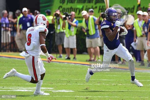 September 10 2016 East Carolina Pirates wide receiver Zay Jones catches a pass and runs away from North Carolina State Wolfpack defensive back Niles...