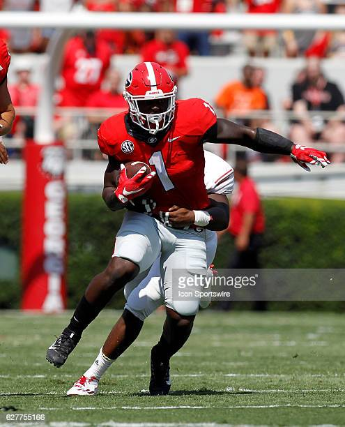 Georgia Bulldogs running back Sony Michel in first half action at Samford stadium in Athens Georgia