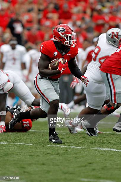 Georgia Bulldogs running back Sony Michel in second half action The Georgia Bulldogs defeated the Nicholls State Colonels 26 24 at Sanford stadium in...