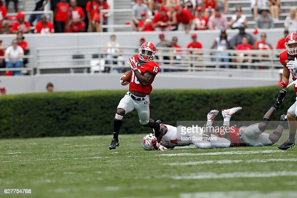 Georgia Bulldogs wide receiver Isaiah McKenzie in the second half rushes the ball The Georgia Bulldogs defeated the Nicholls State Colonels 26 24 at...