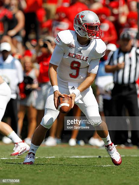 Nicholls State Colonels quarterback Chase Fourcade in first half action The Georgia Bulldogs defeated the Nicholls State Colonels 26 24 at Sanford...