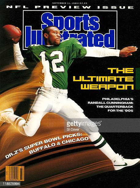 September 11 1989 Sports Illustrated Cover Season Preview Slow shutter speed portrait of Philadelphia Eagles QB Randall Cunningham during photo shoot...