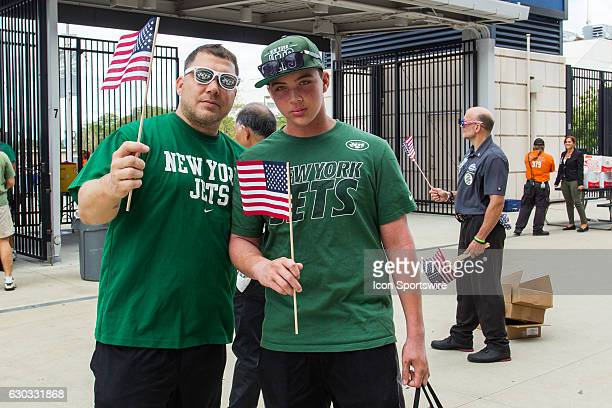 All fans entering MetLife Stadium for the NY Jets home opener versus the Cincinnati Bengals received an American Flag in honor of the 15th...