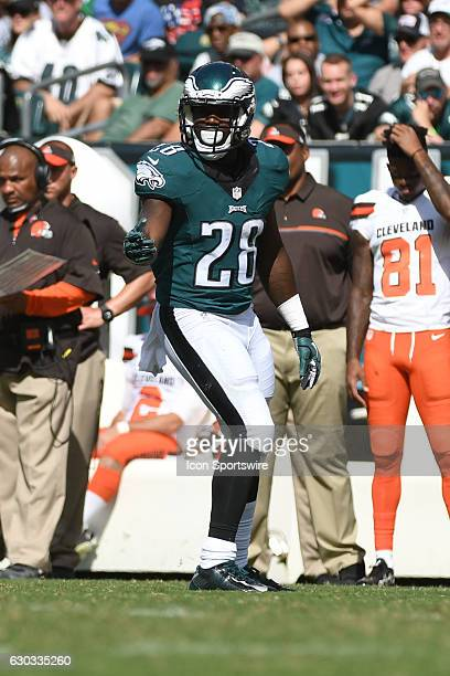 Philadelphia Eagles Running Back Wendell Smallwood [22017] during a National Football League game between the Cleveland Browns and the Philadelphia...