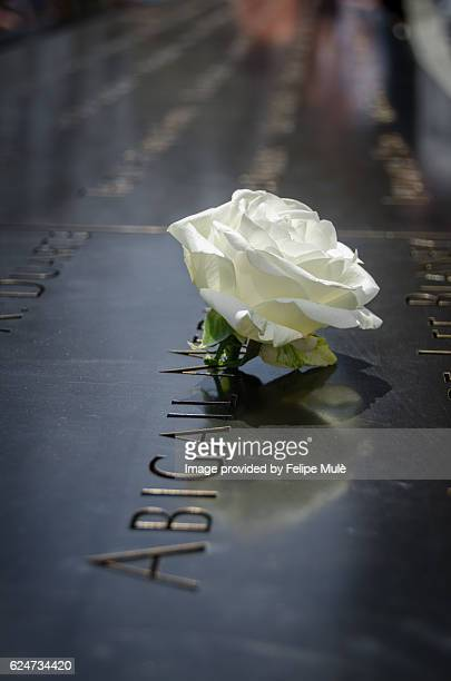 september 11 memorial - twin towers manhattan stock photos and pictures