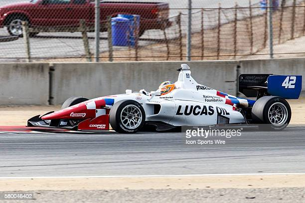 Jack Harvey in the Schmidt Peterson Motorsports w/CurbAgajanian took 5th during qualification for the Indy Lights Grand Prix presented by Cooper...