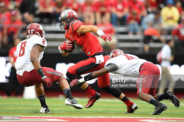 on sale bd851 63c70 Rutgers Scarlet Knights tight end Charles Scarff during a ...