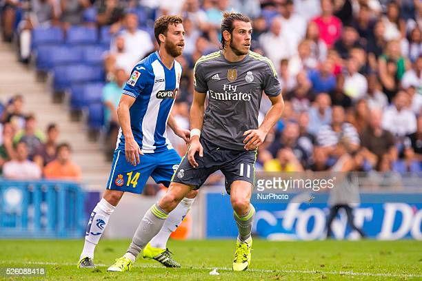 Gareth Bale and Carlos Henrique Casemiro during the match beetwen RCD Espanyol and Real Madrid CF for the week 3 of the Spanish league played at...