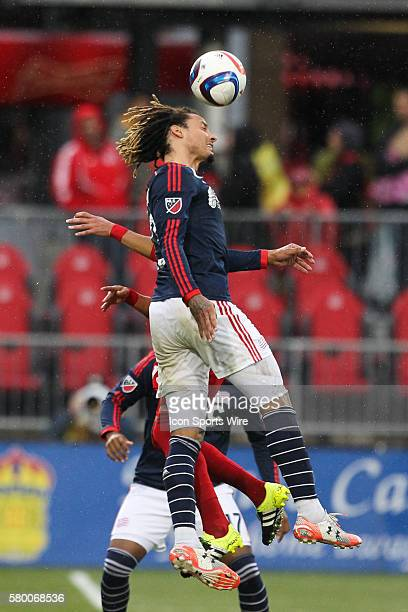 New England Revolution midfielder Jermaine Jones battles for a the ball during the second half at a MLS game between the New England Revolution and...