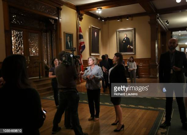 TORONTO ON September 13 NDP leader Andrea Horwath speaks to reporters following the morning Question Period The Ontario Legislature was recalled so...