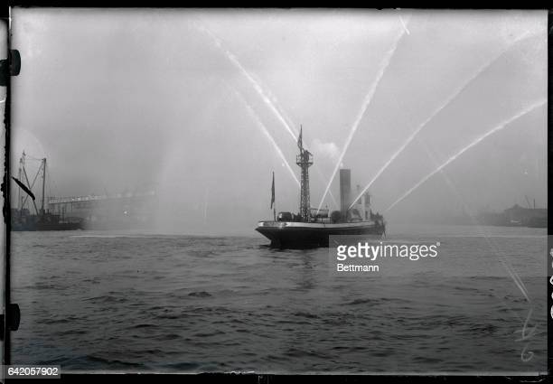 September 14 1922 Fire Boat With New High Pressure The New York Fire Department on September 14 conducted tests with new high pressure pumps on the...