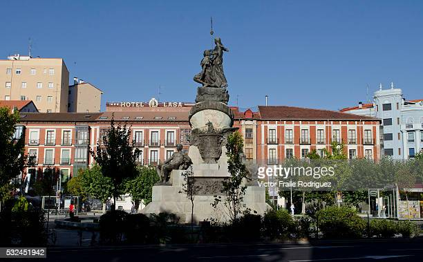 Features of Valladolid historic city and municipality in northcentral Spain situated at the confluence of the Pisuerga and Esgueva rivers A 1905...