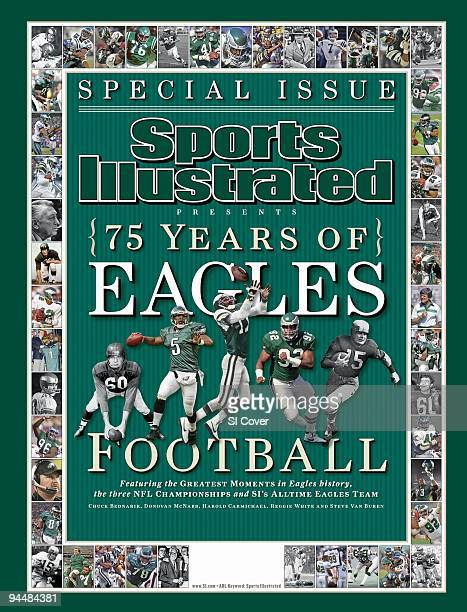 September 14 2007 Sports Illustrated Presents Cover Football View of Philadelphia Eagles players Chuck Bednarik in 1954 photo by AP QB Donovan McNabb...