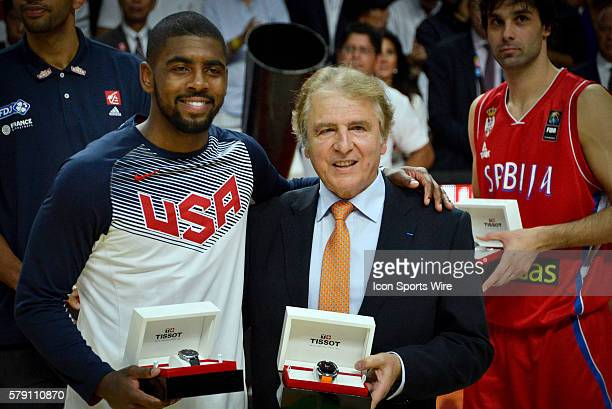Kyrie Irving is named one of the AllStar Five and the MVP after Team USA defeats Serbia in the 2014 FIBA Basketball World Cup championship at Palacio...